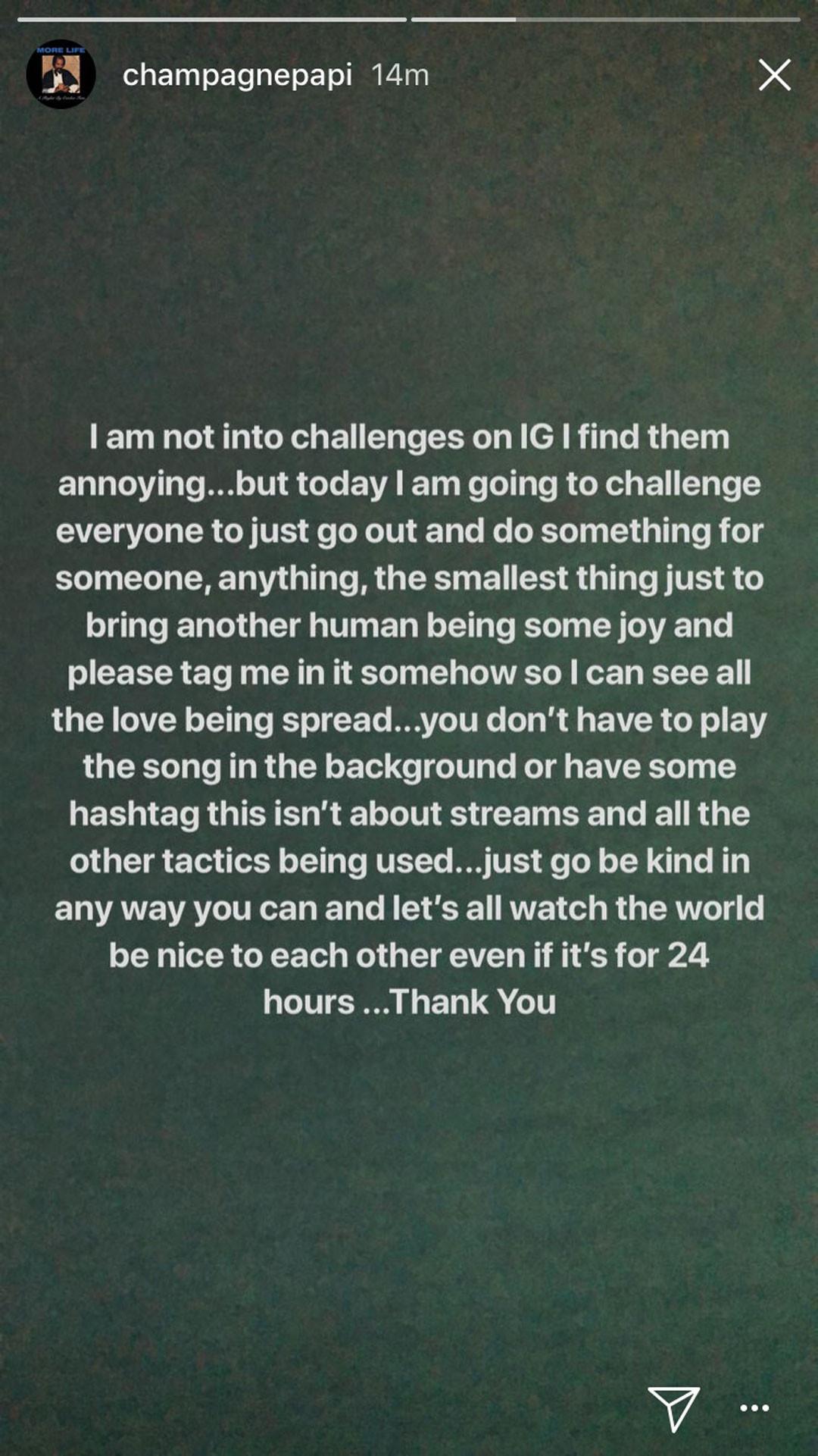 Drake, Instagram