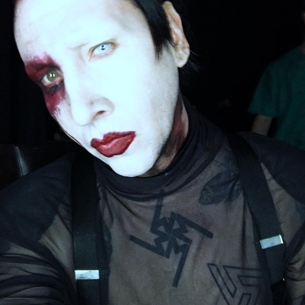 Marilyn Manson breaks down on stage before cutting his concert short