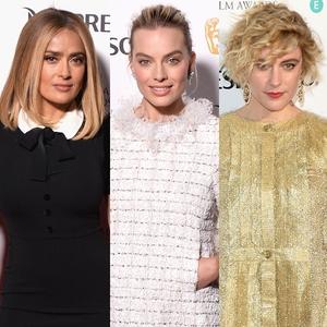 Salma Hayek, Margot Robbie, Greta Gerwig, BAFTA Nominee Party
