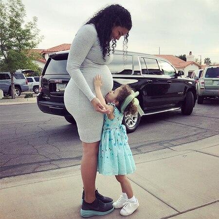 "600 jordin sparks baby bump niece 2 021718 - Jordin Sparks Celebrates ""Low Key"" Baby Shower With Dana Isaiah and Family"