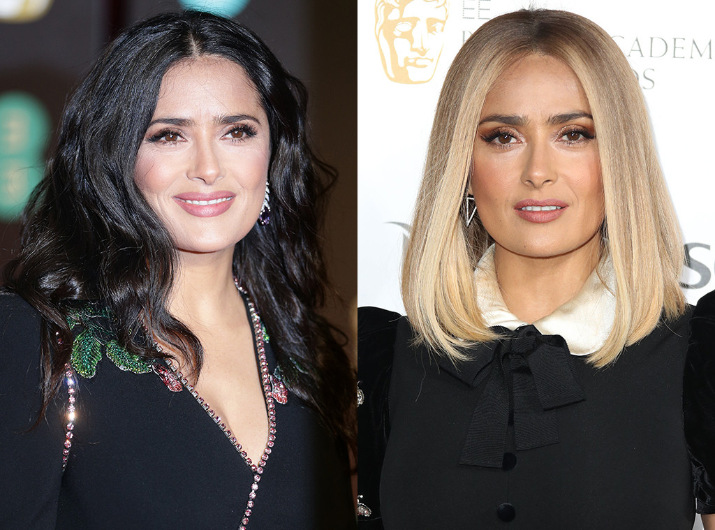 Salma Hayek Is A Brunette Again A Day After Debuting Blond