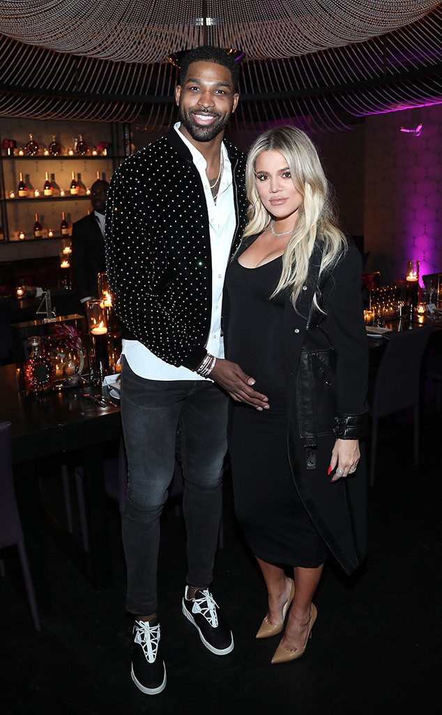 Tristan Thompson and pregnant Khloe kardashian