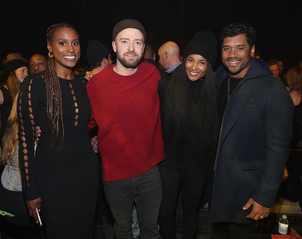 Justin Timberlake, Ciara, Russell Wilson, Issa Rae