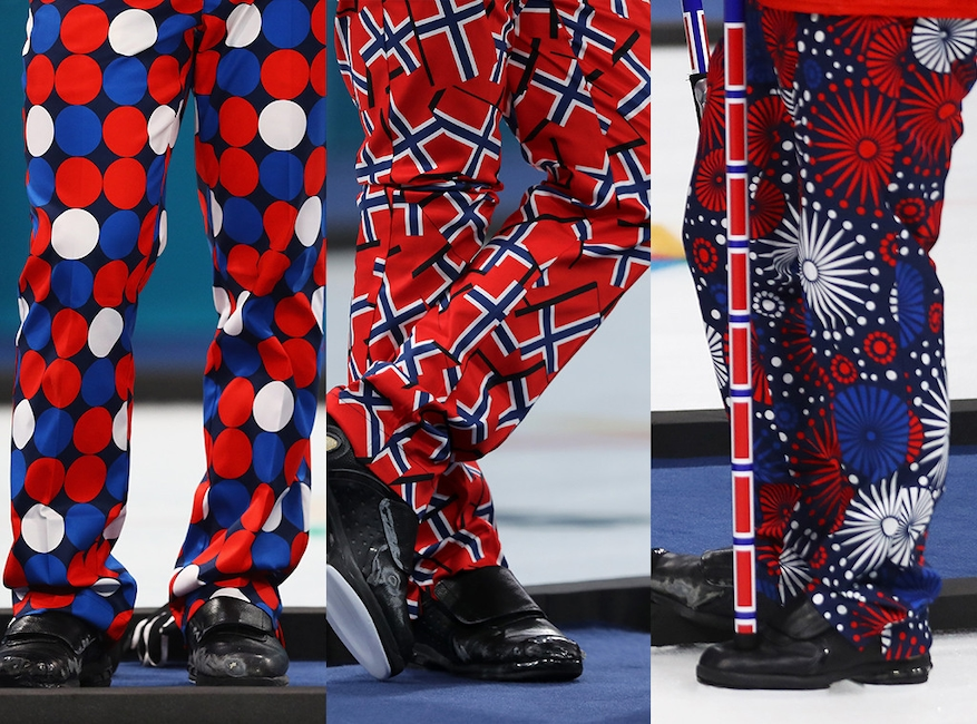Norway, curling, pants, 2018 Winter Olympics