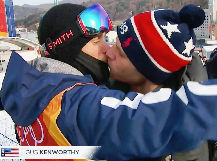Gus Kenworthy, 2018 Winter Olympics, kiss