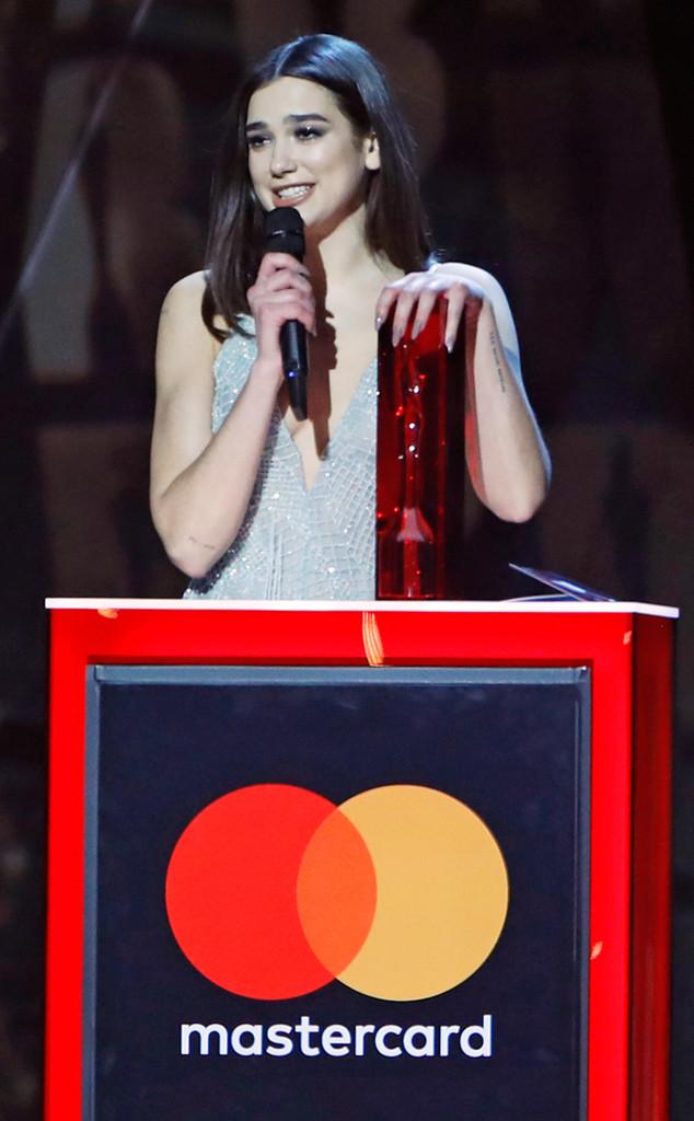 Dua Lipa, 2018 Brit Awards, winners