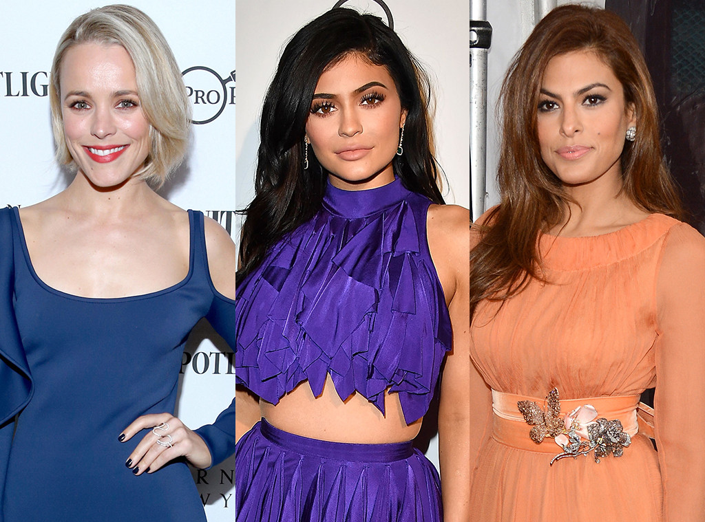 Rachel McAdams, Kylie Jenner, Eva Mendes