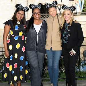 Mindy Kaling, Reese Witherspoon, Storm Reid, Oprah Winfrey, A Wrinkle in Time, Disneyland