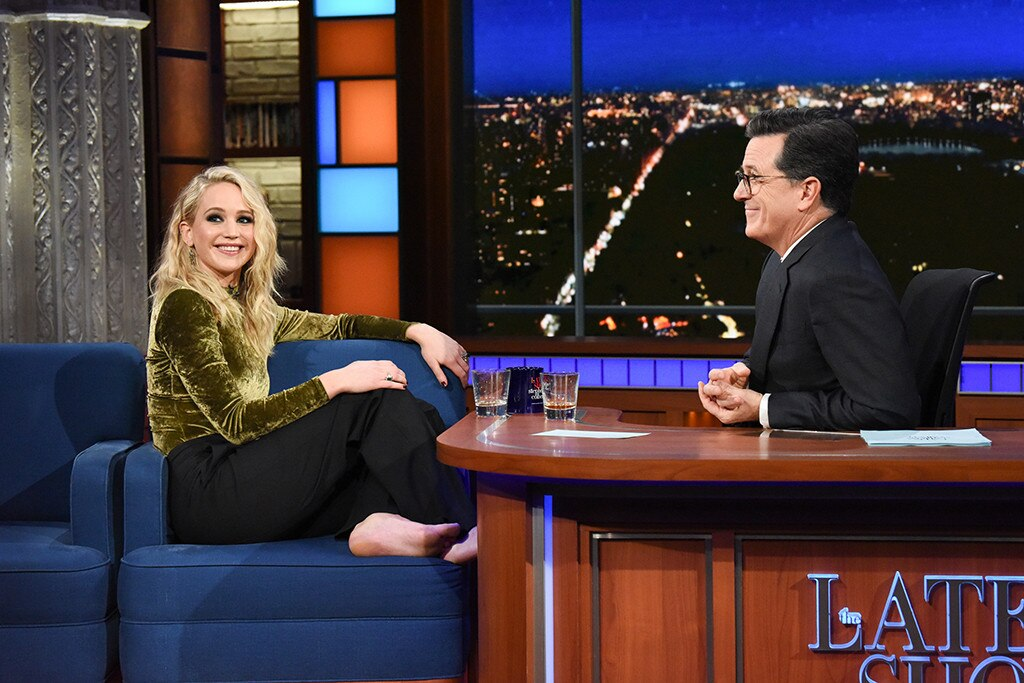 Jennifer Lawrence The Late Show with Stephen Colbert