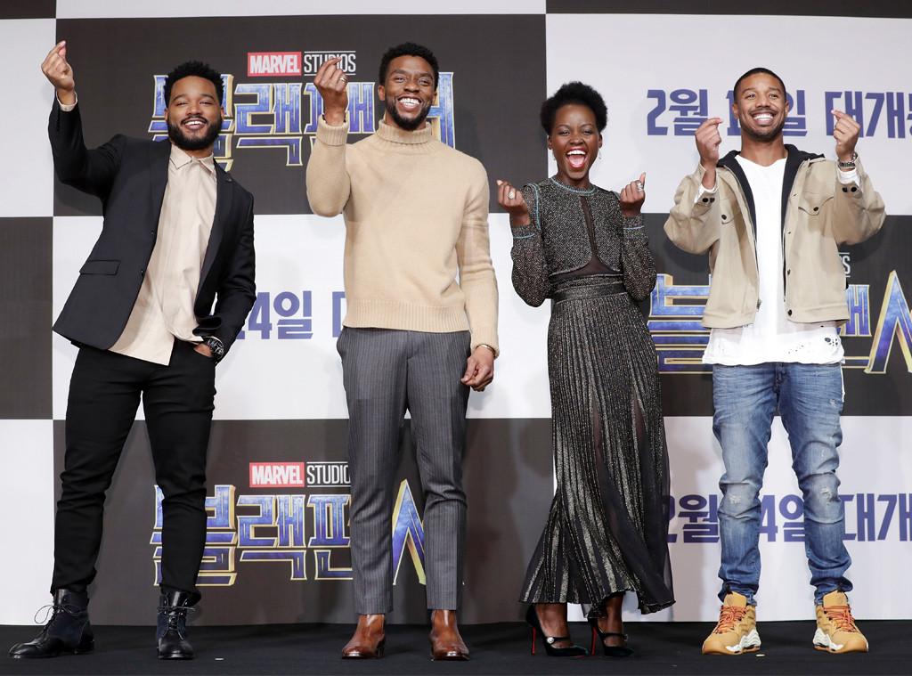 Ryan Coogler, Actor Chadwick Boseman, Lupita Nyongo, Michael B. Jordan
