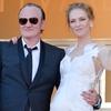 Quentin Tarantino, Uma Thurman, Cannes Film Festival 2014