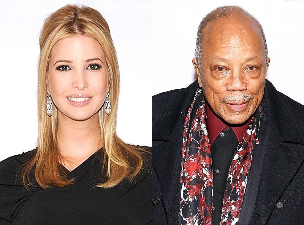 Music legend Quincy Jones claims he used to date Ivanka Trump