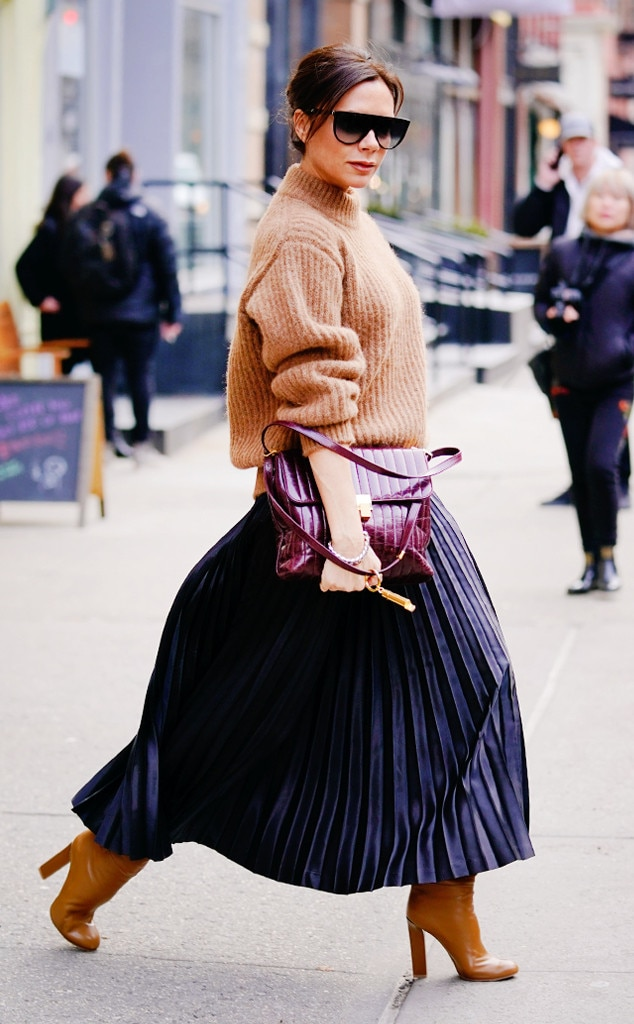 Victoria Beckham From Best Celeb Street Style From Nyfw Winter 2018 E News