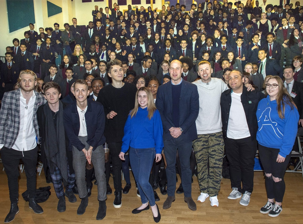 Prince William surprises London students at school assembly