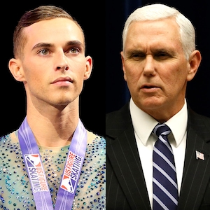 Adam Rippon, Mike Pence