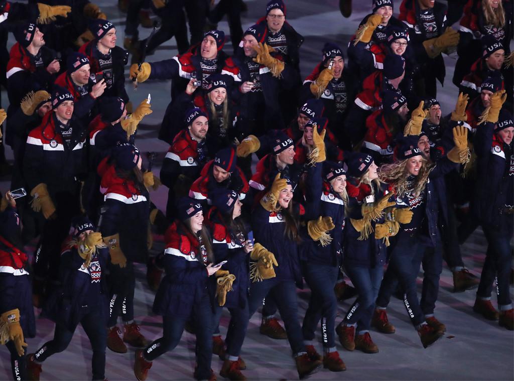 Team USA, Opening Ceremony, 2018 Olympics