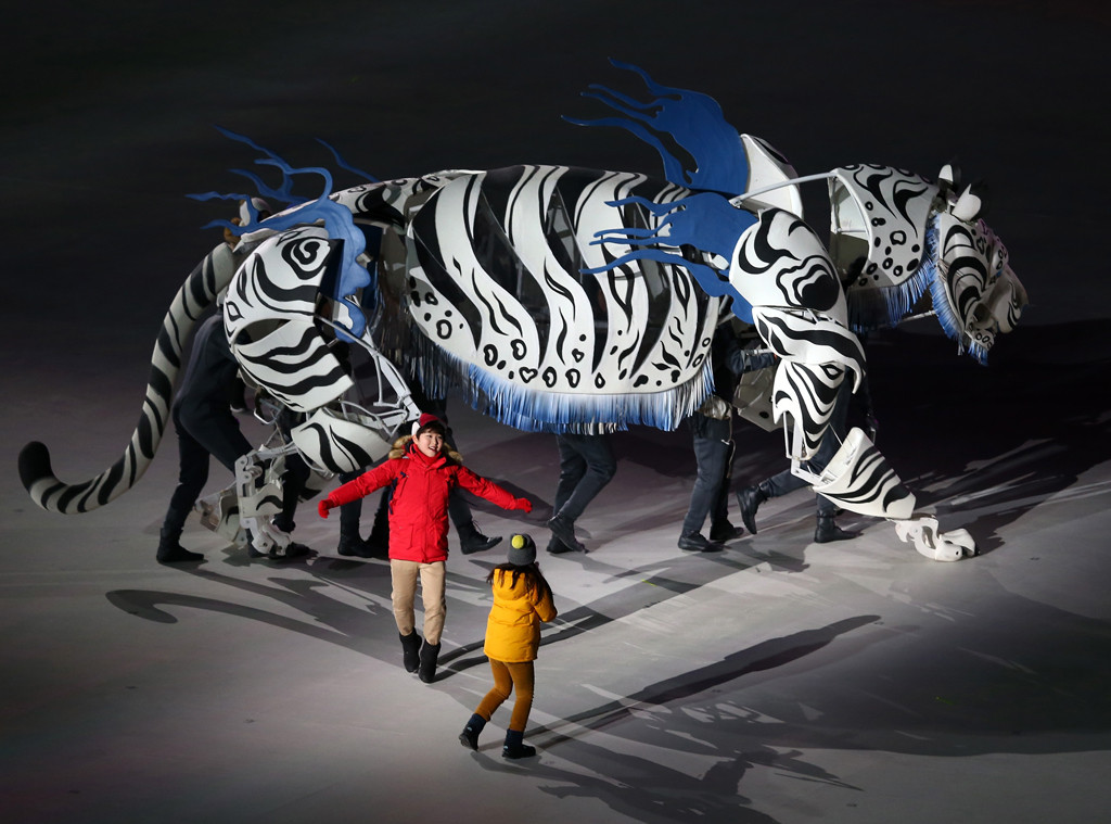 Tiger, Olympics 2018, Opening Ceremony