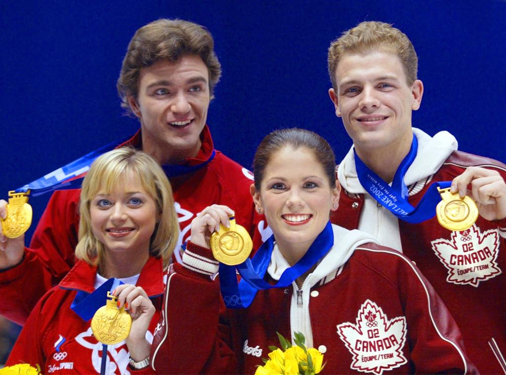Jamie Sale, David Pelletier, gold medals, 2002 Winter Olympics