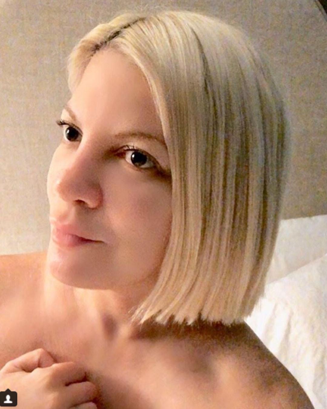 Tori Spelling Hair, Instagram, January 2018