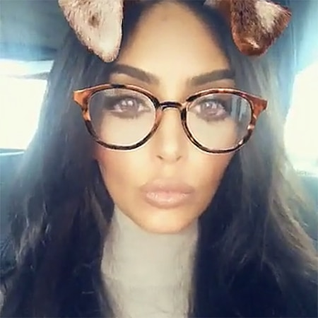 rs 600x600 180311070556 600 kim kardashian snapchat 031018 - Kim Kardashian Dyes Pink Hair Brown Prior to Khloe Kardashian's Child Shower