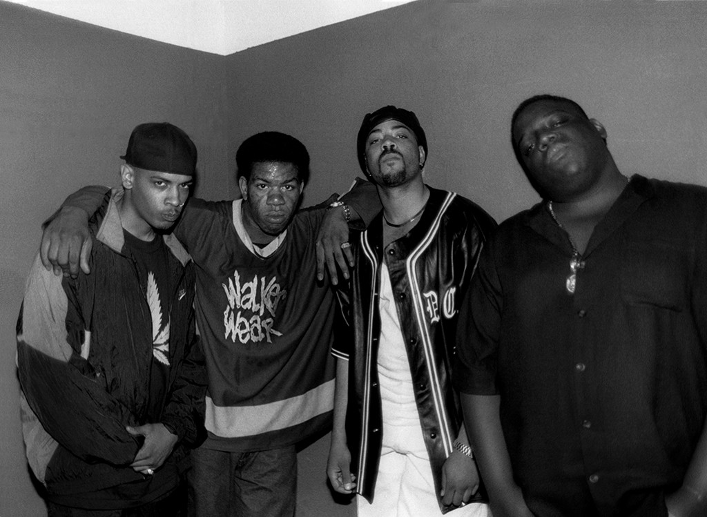 Rappers Saafir, Craig Mack, The D.O.C., Notorious B.I.G.