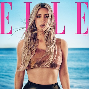Kim Kardashian, Elle April 2018