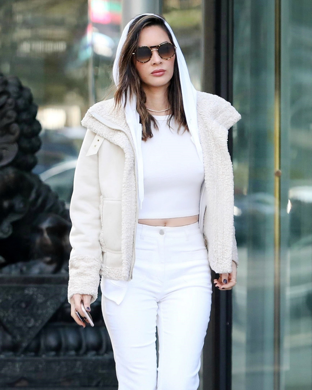 Saturday Savings: Olivia Munn's Shearling Jacket Is Now Only $50!