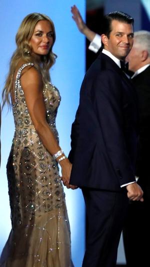 Vanessa Trump, Donald Trump Jr., Inauguration