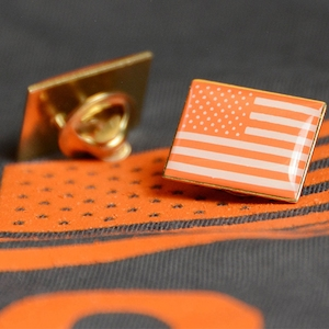"Gun Safety Pin, ""Wear Orange"" American Flag Pins"