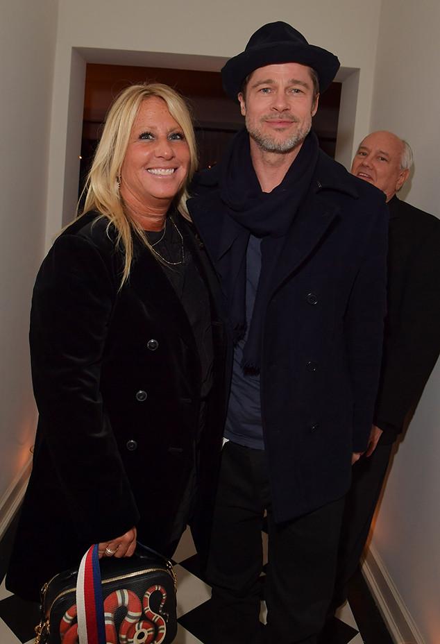 Brad Pitt, Manager, Cynthia Pett-Dante, Pre-2018 Oscars Party, Gersh Agency