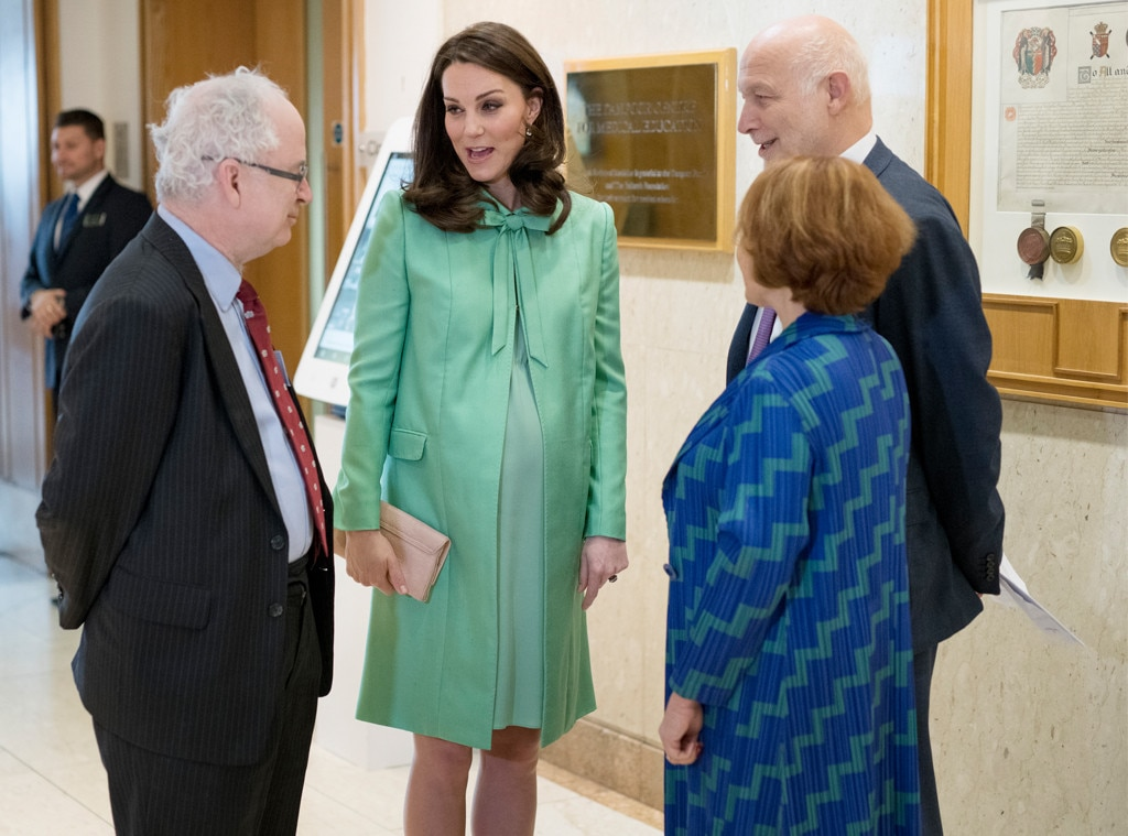 Duchess Kate greets spring in mint-green coat dress by Jenny Packham