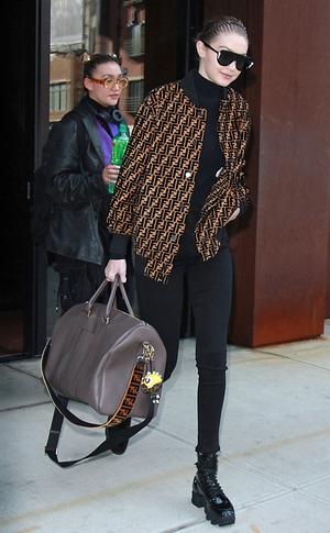 ESC: Gigi Hadid, Fendi, Celebs in Designer Logos