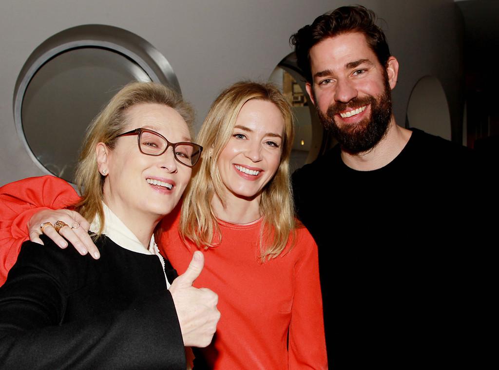 Devil Wears Prada Superfan John Krasinski Gets To Hang Out With Emily Blunt And Meryl Streep