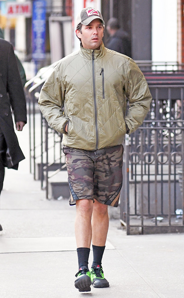 Donald Trump Jr. Can't Hide in His Camouflage Shorts While ...
