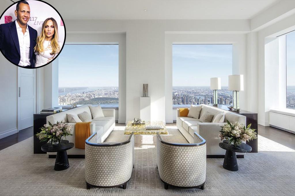 Jennifer Lopez, Alex Rodriguez, New York Apartment