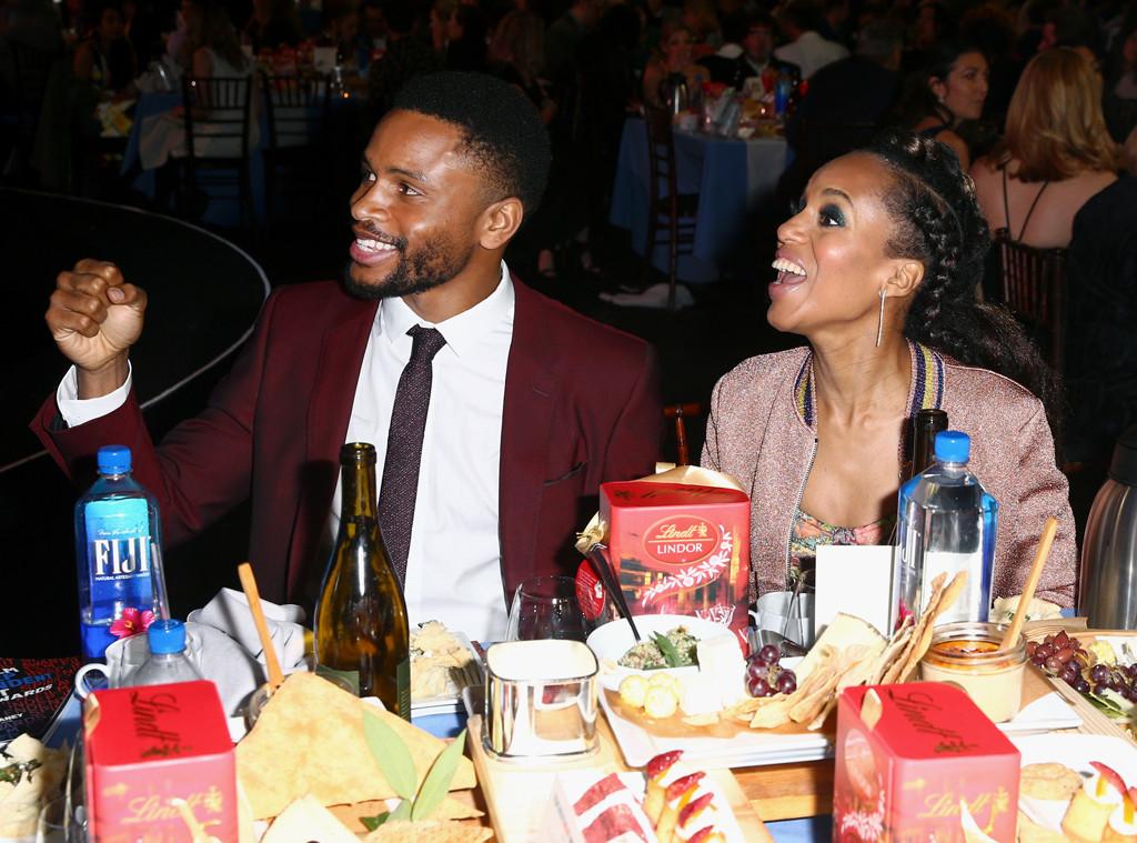 Kerry Washington, Nnamdi Asomugha, 2018 Film Independent Spirit Awards