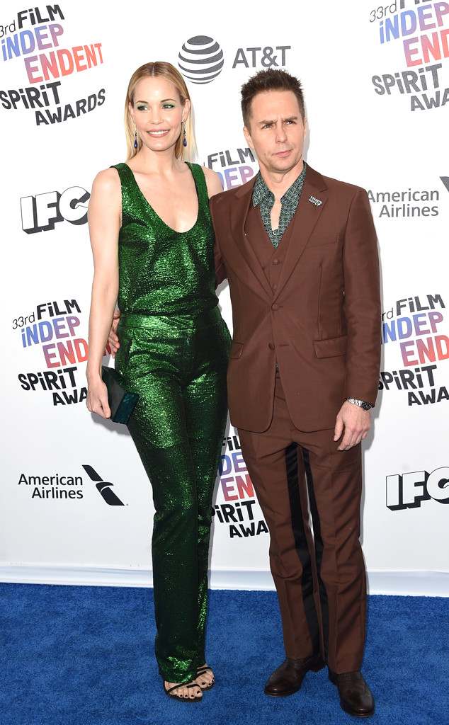Leslie Bib, Sam Rockwell, 2018, Film Independent Spirit Awards