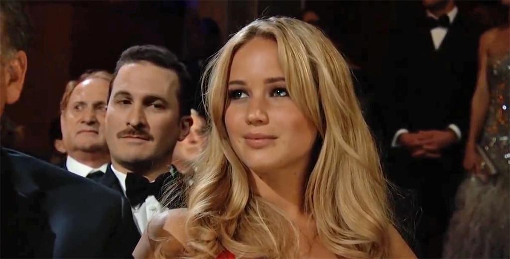 Jennifer Lawrence, Darren Aronofsky, Oscars 2011, GIF