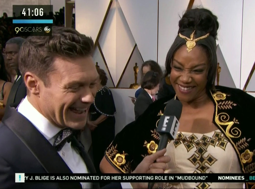 Eternally Relatable Tiffany Haddish Re-Wears Gown at Oscars