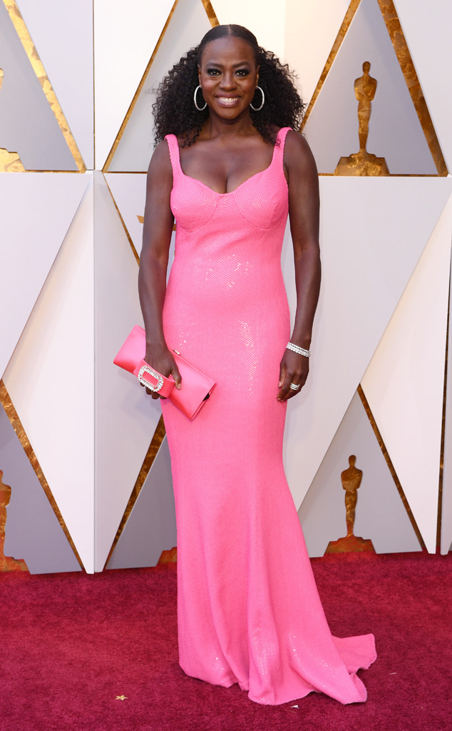 Viola Davis, 2018 Oscars, Red Carpet Fashions