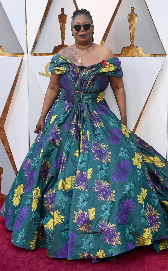 Whoopi Goldberg, 2018 Oscars, Red Carpet Fashions