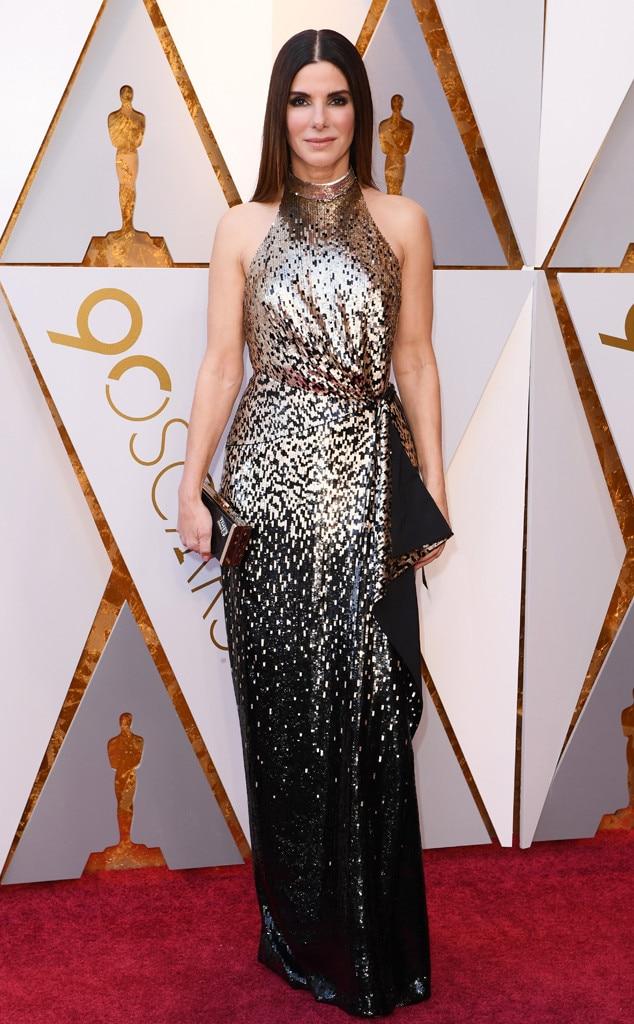 Sandra Bullock, 2018 Oscars, Red Carpet Fashions