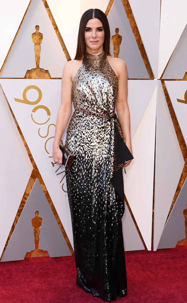 Sandra Bullock, 2018 Oscars, Red Carpet Fashions