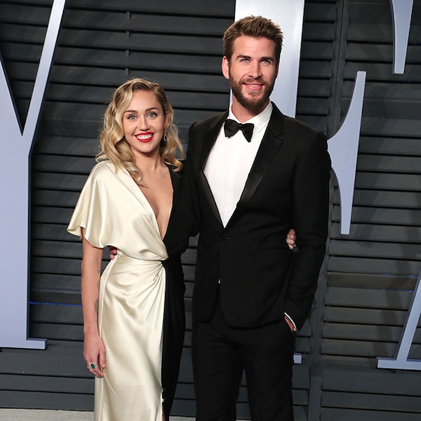 Miley Cyrus and Liam Hemsworth from 2018 Vanity Fair