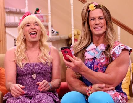 """John Cena and Jimmy Fallon Say """"Ew!"""" on The Tonight Show"""