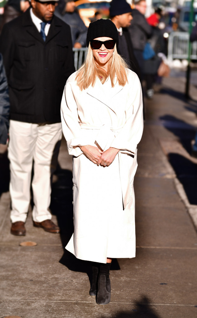 ESC: Reese Witherspoon, White Wrap Coat