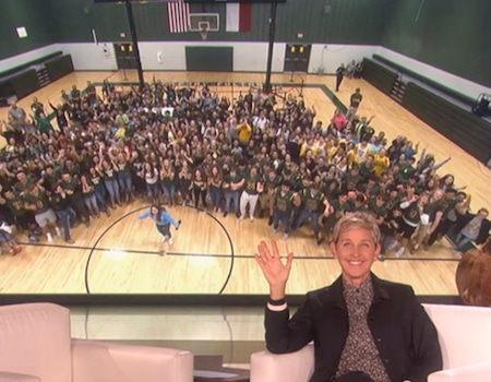 Ellen DeGeneres Gives $1 Million to High School Athletes Impacted by Hurricane Harvey: See Their Priceless Reactions