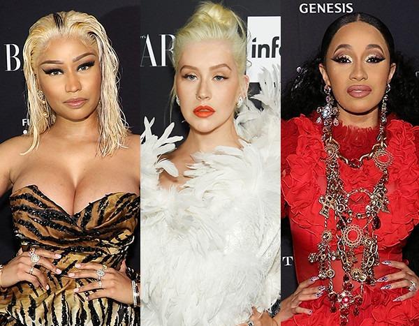 Christina Aguilera Reacts to Nicki Minaj and Cardi B's NYFW Fight