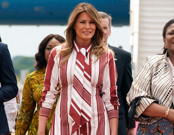 Melania Trump Steps Out in $2,000 Dress for Hospital Tour in Africa