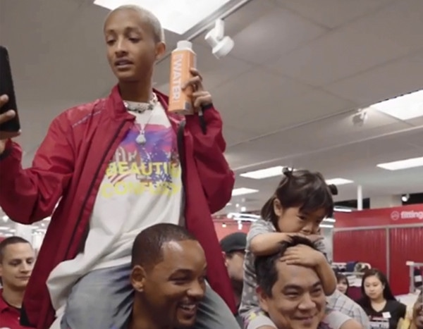 Will Smith Just Started the #PiggyBackChallenge With Help From Jaden Smith